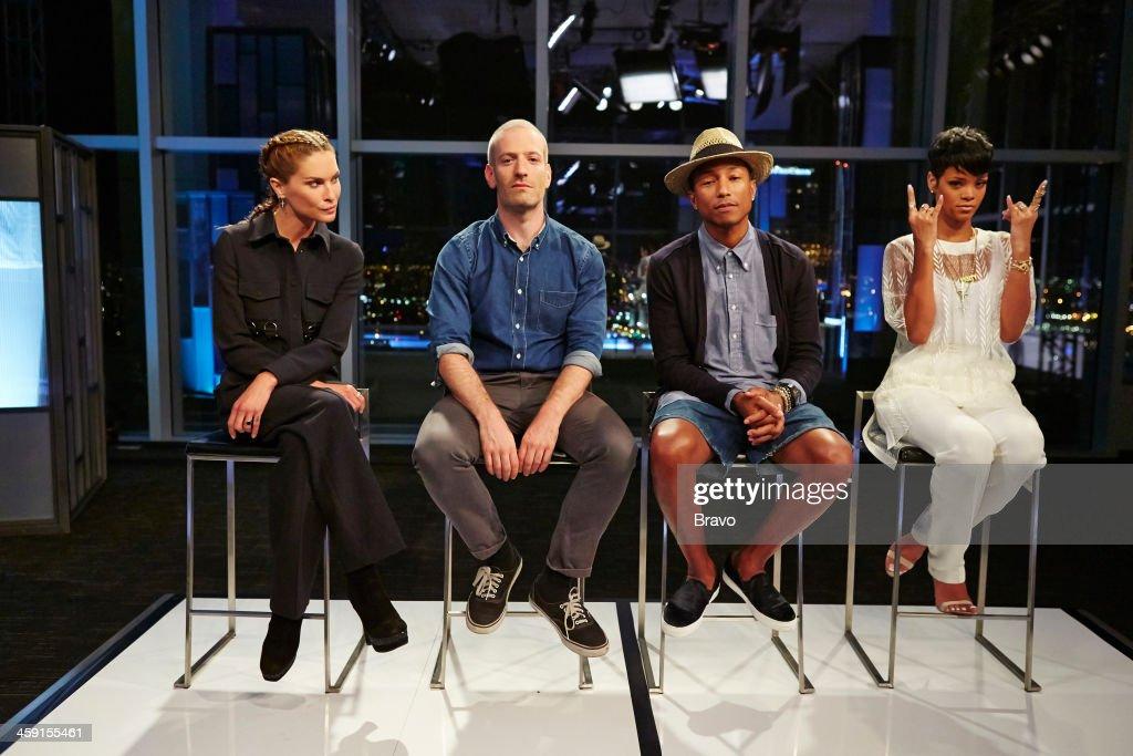 ROCK 'Rihanna on the Runway' Episode 110 Pictured Judges Erin Wasson Mel Ottenberg Pharrell Williams Rihanna