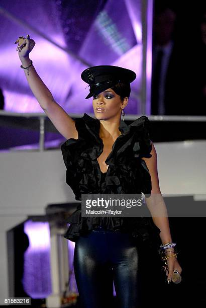 Rihanna performs at the 2008 MuchMusic Video Awards held at Much world HQ at the CTV building on June 15 2008 in Toronto Canada