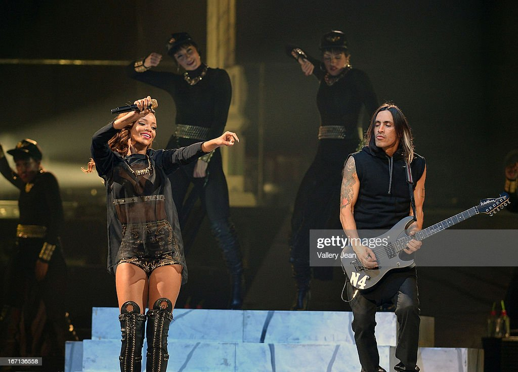 <a gi-track='captionPersonalityLinkClicked' href=/galleries/search?phrase=Rihanna&family=editorial&specificpeople=453439 ng-click='$event.stopPropagation()'>Rihanna</a> performs at the BB&T Center on April 20, 2013 in Sunrise, Florida.