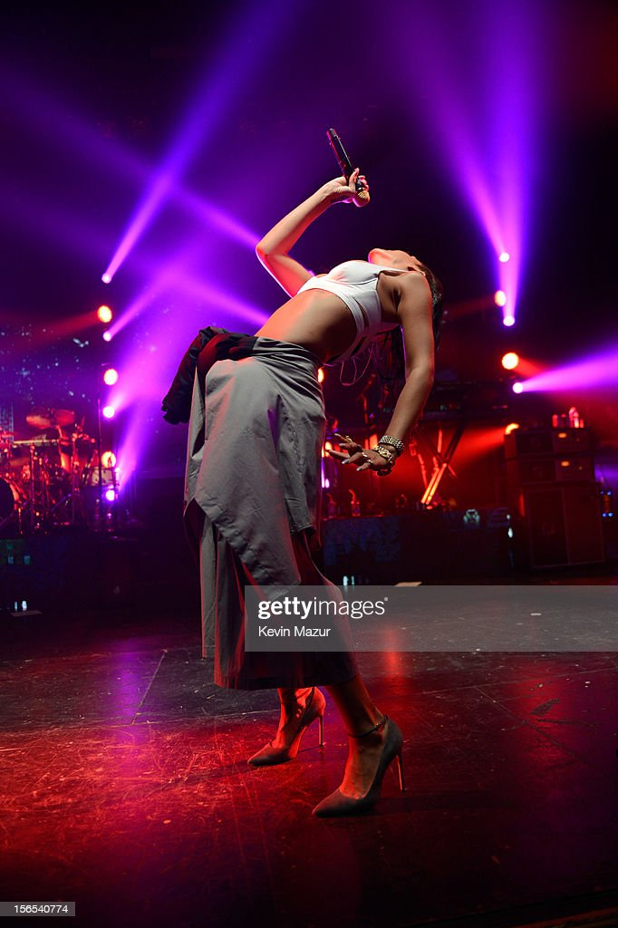 <a gi-track='captionPersonalityLinkClicked' href=/galleries/search?phrase=Rihanna&family=editorial&specificpeople=453439 ng-click='$event.stopPropagation()'>Rihanna</a> performs at The Danforth during her 777 tour on November 15, 2012 in Toronto, Ontario. <a gi-track='captionPersonalityLinkClicked' href=/galleries/search?phrase=Rihanna&family=editorial&specificpeople=453439 ng-click='$event.stopPropagation()'>Rihanna</a>'s 777 Tour - 7 countries, 7 days, 7 shows in celebration of the November 19, 2012 release of 'Unapologetic.'