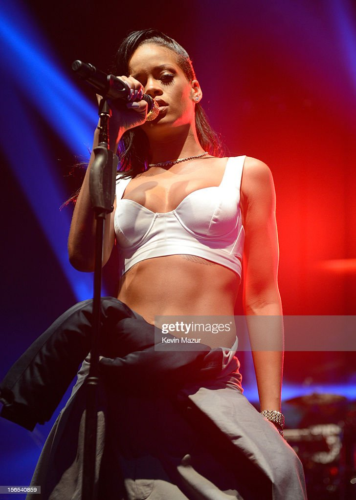 Rihanna performs at The Danforth during her 777 tour on November 15, 2012 in Toronto, Ontario. Rihanna's 777 Tour - 7 countries, 7 days, 7 shows in celebration of the November 19, 2012 release of 'Unapologetic.'