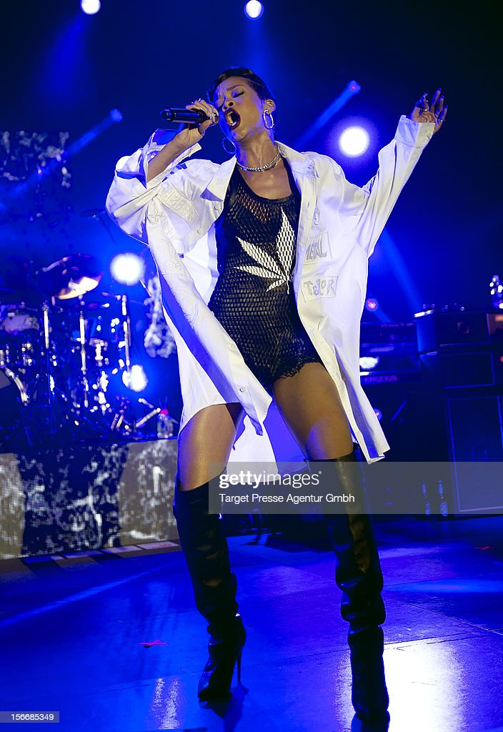 <a gi-track='captionPersonalityLinkClicked' href=/galleries/search?phrase=Rihanna&family=editorial&specificpeople=453439 ng-click='$event.stopPropagation()'>Rihanna</a> performs during her 777 tour on November 18, 2012 at E-Werk in Berlin, Germany.