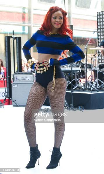 Rihanna performs during NBC's 'Today Show' 2011 summer concert series at Rockefeller Plaza on May 27 2011 in New York City