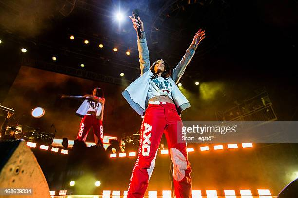 Rihanna performs during the March Madness Music Festival on April 4 2015 in Indianapolis Indiana