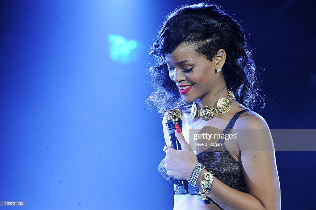 Rihanna performs for the London leg of her 777 tour at Kentish Town Forum on November 19, 2012 in London, England.