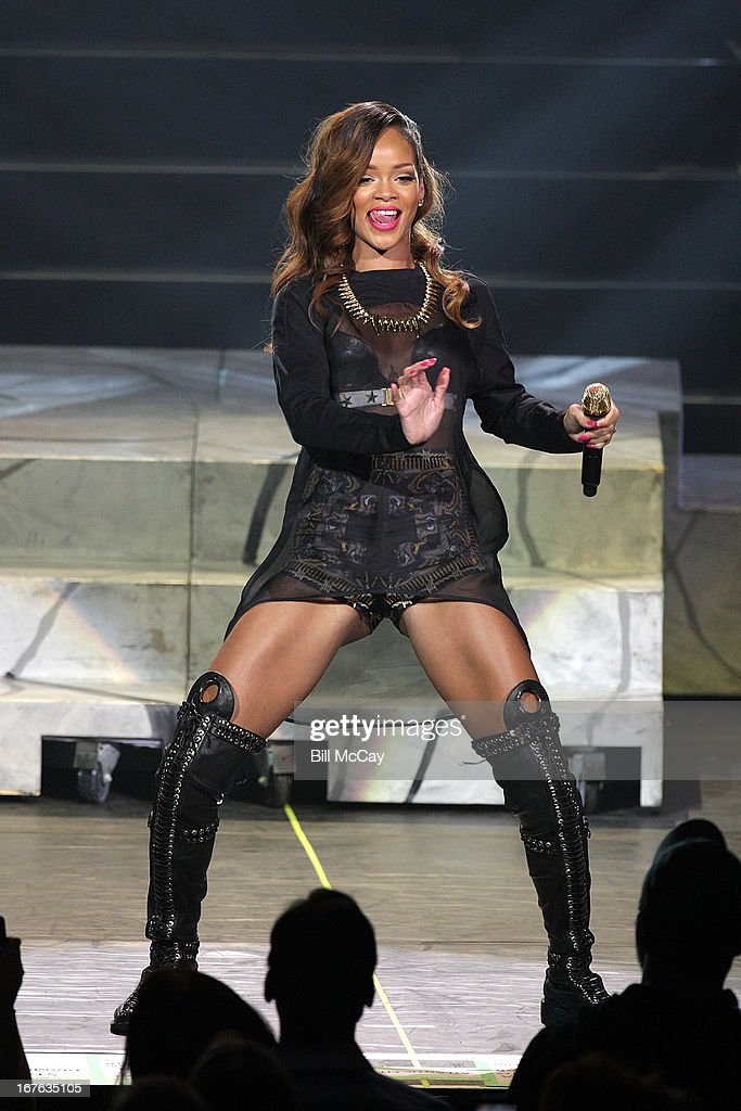 Rihanna performs in concert at Ovation Hall at Revel Resort & Casino April 26, 2013 in Atlantic City, New Jersey