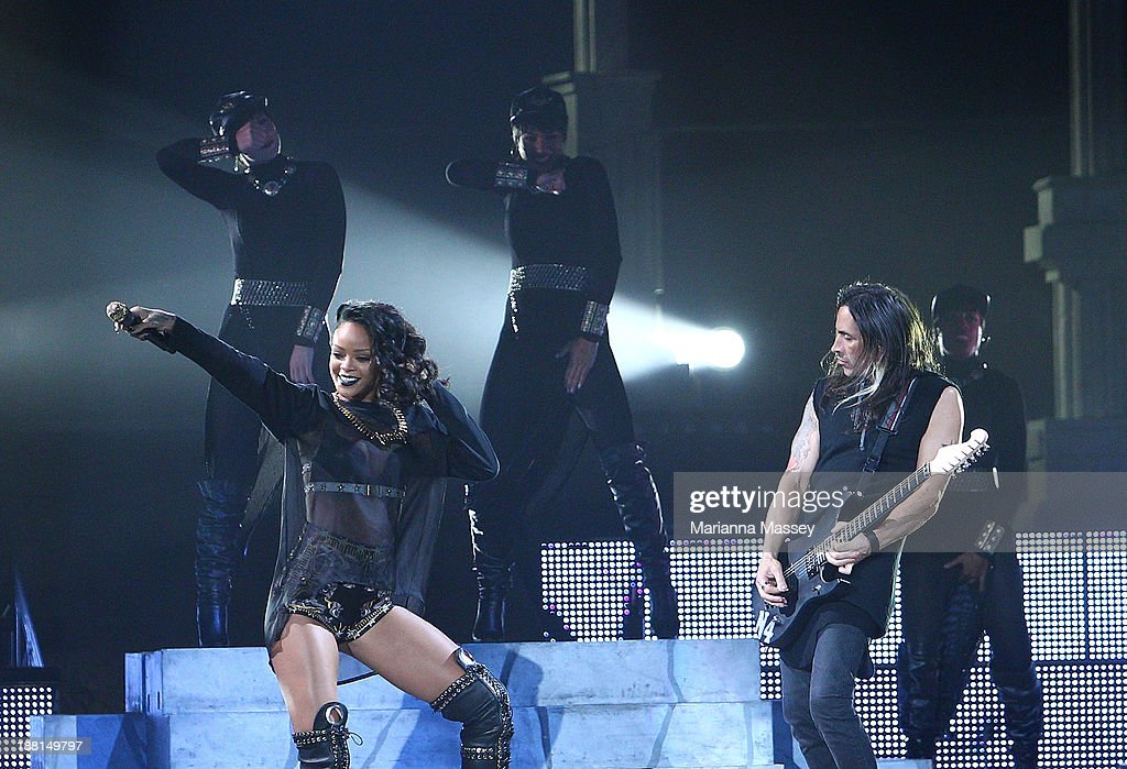 Rhianna performs live on the last show of her tour at New Orleans Arena on November 15, 2013 in New Orleans, Louisiana.