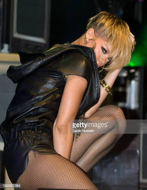 Rihanna performs on day 2 of Radio 1's Big Weekend on May 23 2010 in Bangor Wales