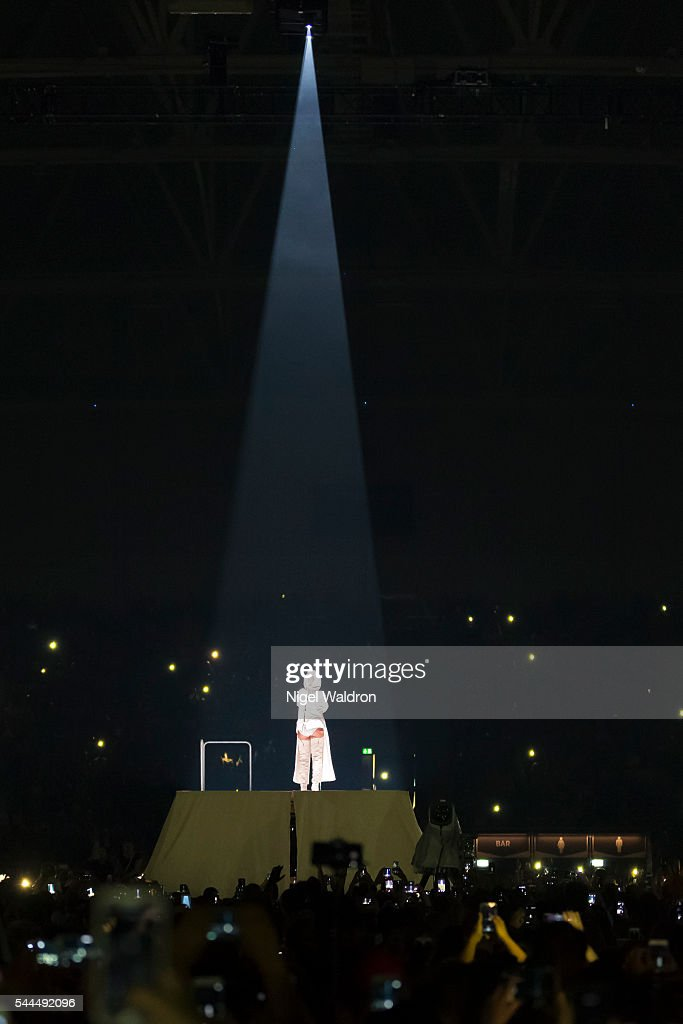 Rihanna performs on stage at Telenor Arena on July 02 2016 in Oslo Norway