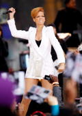 Rihanna performs on stage during ABC's 'Good Morning America' at ABC Studios on November 24 2009 in New York City