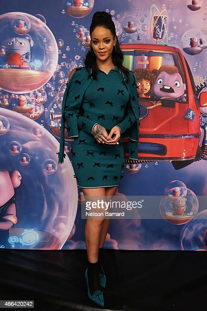 Rihanna promotes her new animated feature 'Home' at Mandarin Oriental on March 15 2015 in New York City