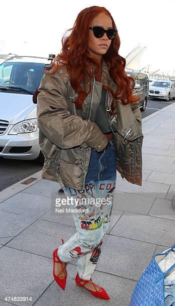 Rihanna seen at Heathrow Airport on May 27 2015 in London England