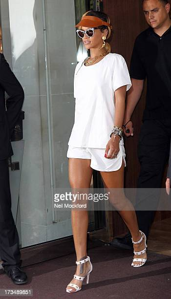 Rihanna seen leaving her hotel on July 15 2013 in London England