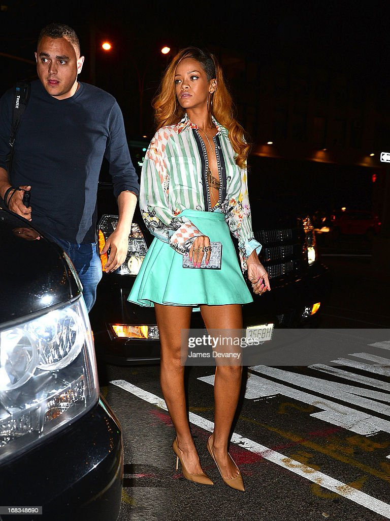 Rihanna seen on the streets of Manhattan on May 8 2013 in New York City