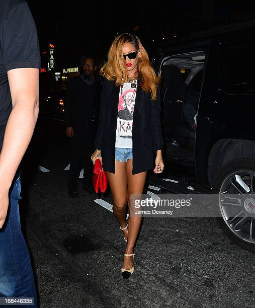 Rihanna seen on the streets of Manhattan on May 9 2013 in New York City