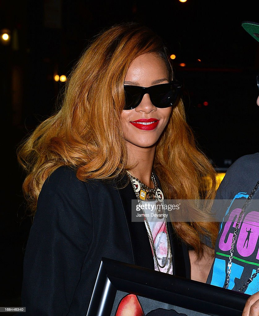 Rihanna seen on the streets of Manhattan on May 9, 2013 in New York City.
