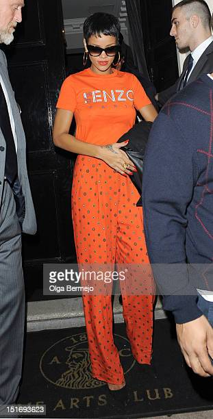 Rihanna sighting at The Arts Club sighting on September 9 2012 in London England