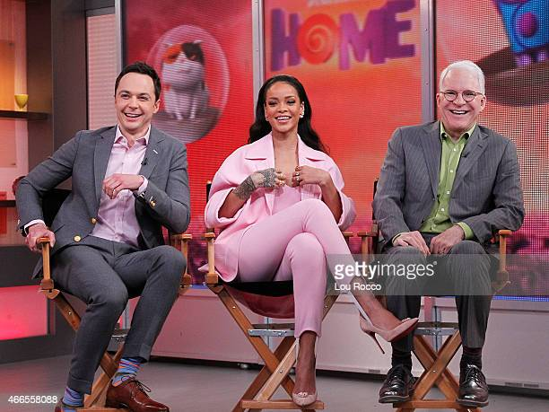 AMERICA Rihanna Steve Martin and Jim Parsons are all guests on 'Good Morning America' 3/13/15 airing on the ABC Television Network