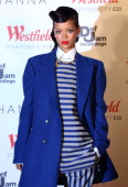 Rihanna Switches on the Christmas Lights at Westfield Stratford City on November 19 2012 in London England