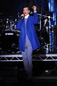 Rihanna switches on the Westfield Stratford City christmas lights at Westfield Stratford City on November 19 2012 in London England