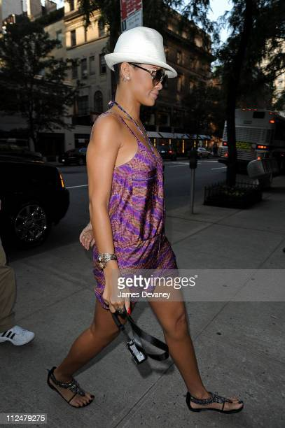 Rihanna visits the Tom Ford flagship store on Madison Avenue on July 30 2009 in New York City