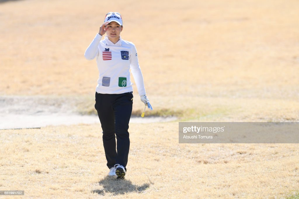 Riho Fujisaki of Japan looks on during the second round of the Yokohama Tire PRGR Ladies Cup at the Tosa Country Club on March 11, 2017, Konan, Japan.