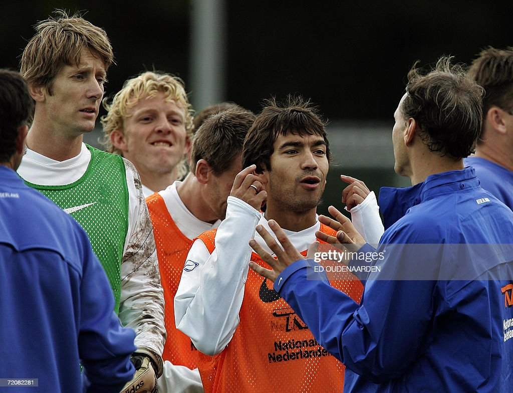 Goalkeeper and captain Edwin van der Sar