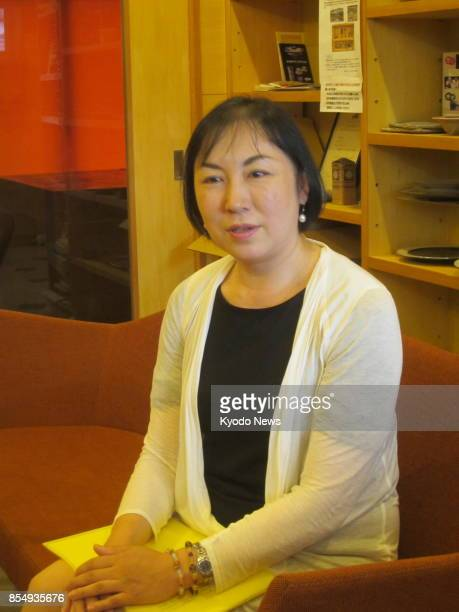 Rika Aida a 46yearold care manager and certified endoflife care supporter poses for a photo in Tokyo on Sept 8 2017 ==Kyodo
