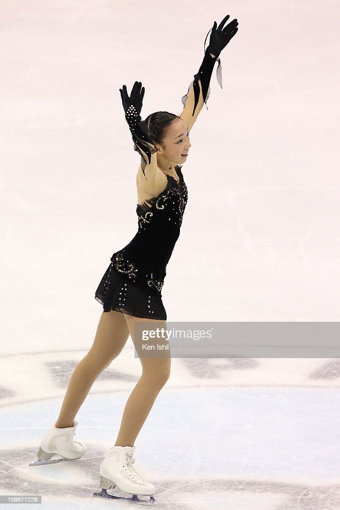 Rika Hongo competes in the Women's Free Program during day three of the 81st Japan Figure Skating Championships at Makomanai Sekisui Heim Ice Arena on December 23, 2012 in Sapporo, Japan.
