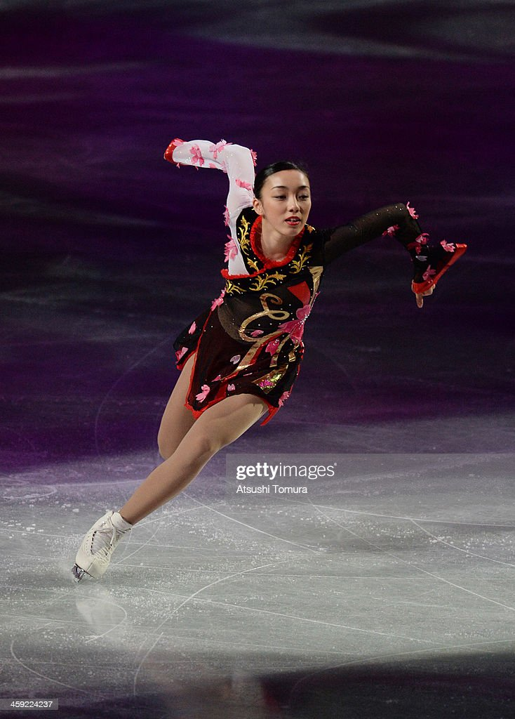 Rika Hongo of Japan performs her routine in the Gala exhibition during All Japan Figure Skating Championships at Saitama Super Arena on December 24, 2013 in Saitama, Japan.