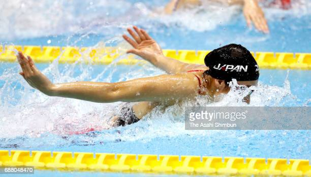 Rikako Ikee of Japan competes in the Women's 50m Butterfly final during day two of the Swimming Japan Open at Tokyo Tatsumi International Swimming...