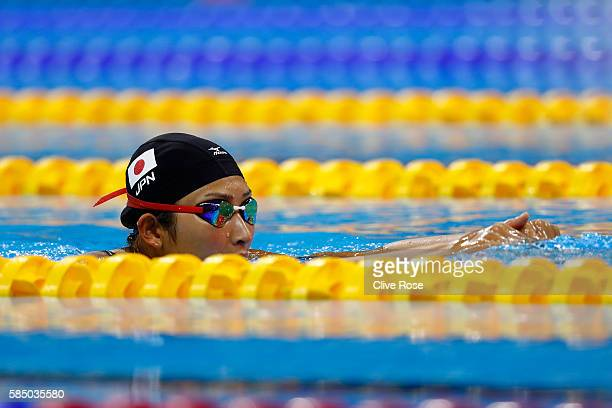 Rikako Ikee of Japan in action during a training session at the Olympic Aquatics Stadium in the Olympic Park on August 1 2016 in Rio de Janeiro Brazil