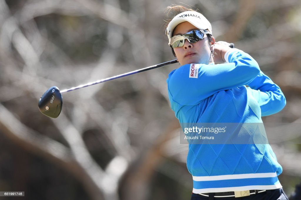 Rikako Morita of Japan hits her tee shot on the 3rd hole during the second round of the Yokohama Tire PRGR Ladies Cup at the Tosa Country Club on March 11, 2017, Konan, Japan.