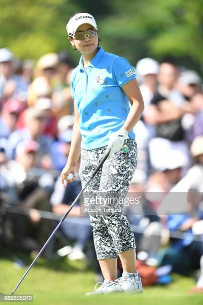 Rikako Morita of Japan looks on during the final round of the Resorttrust Ladies at the Oakmont Golf Club on May 28 2017 in Yamazoe Japan