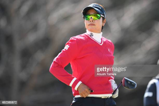 Rikako Morita of Japan looks on during the final round of the Yokohama Tire PRGR Ladies Cup at the Tosa Country Club on March 12 Konan Japan
