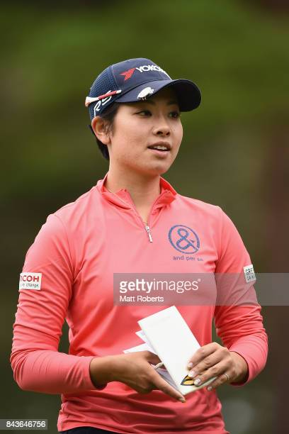 Rikako Morita of Japan looks on during the first round of the 50th LPGA Championship Konica Minolta Cup 2017 at the Appi Kogen Golf Club on September...