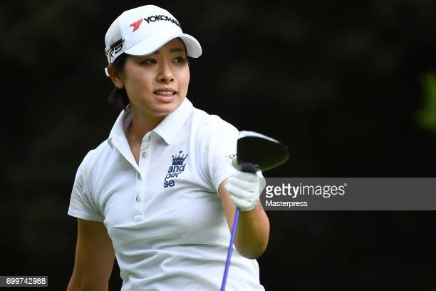 Rikako Morita of Japan looks on during the first round of the Earth Mondamin Cup at the Camellia Hills Country Club on June 22 2017 in Sodegaura Japan