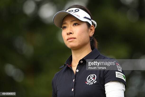 Rikako Morita of Japan looks on during the first round of the Higuchi Hisako Ponta Ladies at the Musashigaoka Golf Course on October 30 2015 in Hanno...