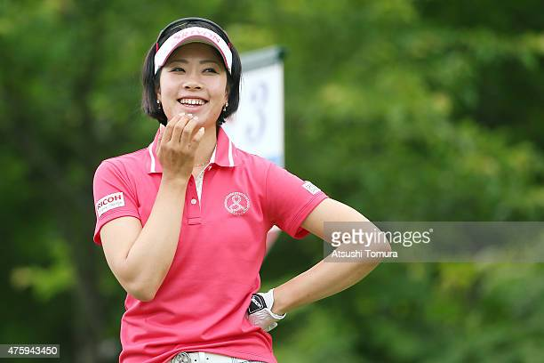 Rikako Morita of Japan smiles during the first round of the Yonex Ladies Golf Tournament 2015 at the Yonex Country Club on June 5 2015 in Nagaoka...