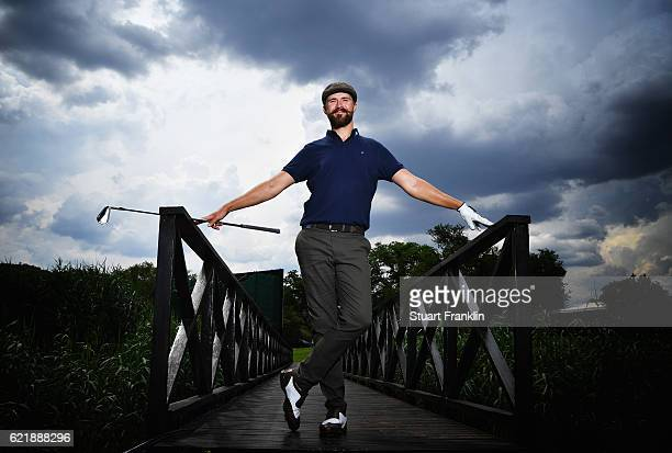 Rikard Karlberg of Sweden poses for a picture during the Pro Am of the Nedbank Golf Challenge at the Gary Player CC on November 9 2016 in Sun City...