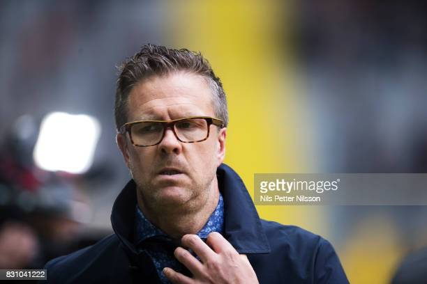 Rikard Norling head coach of AIK during the Allsvenskan match between AIK and Athletic FC Eskilstura at Friends arena on August 13 2017 in Solna...