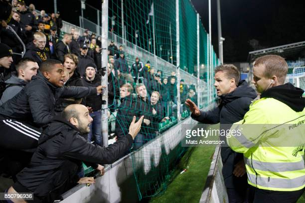 Rikard Norling head coach of AIK during the Allsvenskan match between GIF Sundsvall and AIK at Norrporten Arena on September 21 2017 in Sundsvall...