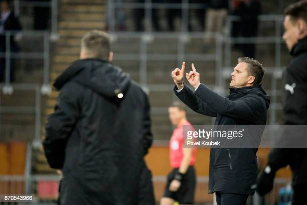 Rikard Norling head coach of AIK during the Allsvenskan match between Orebro SK AIK at Behrn Arena on November 5 2017 in Orebro Sweden