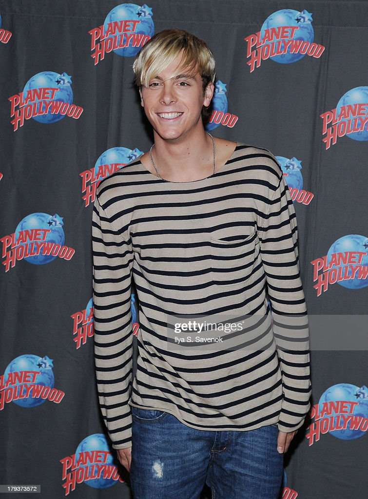Riker Lynch of the band R5 visits Planet Hollywood Times Square on September 2, 2013 in New York City.