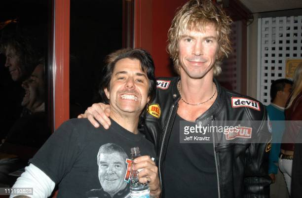 Riki Rachtman and Duff McKagan during KROQ Almost Acoustic Christmas Concert at Universal Amphitheater in Universal City CA United States