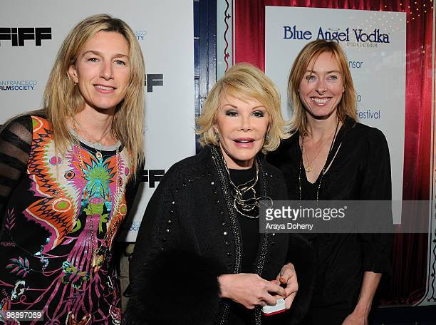 Riki Stern and Joan Rivers and Annie Sundberg attend the 53rd San Francisco International Film Festival Closing Night Premiere of 'Joan Rivers A...