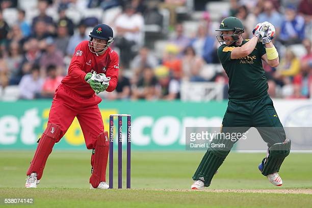 Riki Wessels of Notts Outlaws bats during the NatWest T20 Blast match between Notts Outlaws and Lancashire Lightning at Trent Bridge on June 4 2016...