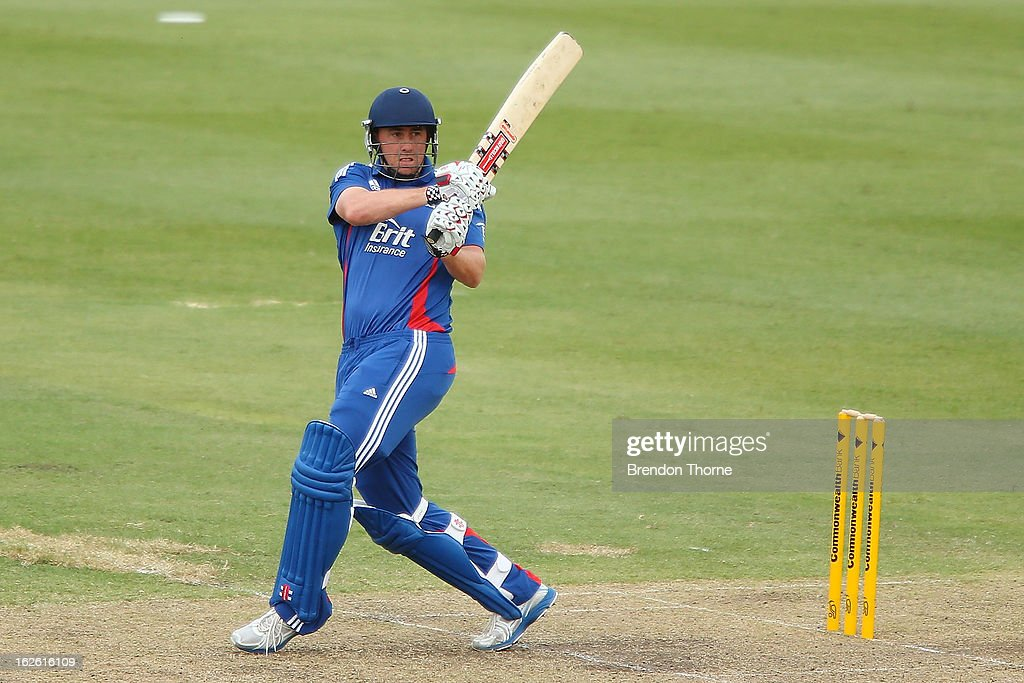 Rikki Clarke of the Lions bats during the International Tour match between Australia 'A' and the England Lions at Sydney Cricket Ground on February 25, 2013 in Sydney, Australia.