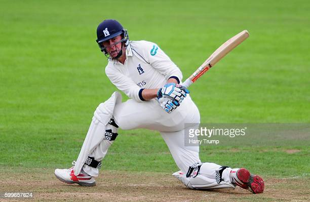 Rikki Clarke of Warwickshire bats during Day One of the Specsavers County Championship Division One match between Somerset and Warwickshire at The...