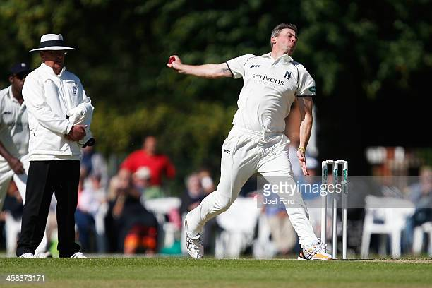 Rikki Clarke of Warwickshire bowls during the Specsavers County Championship Division One match between Surrey and Warwickshire on July 2 2016 in...